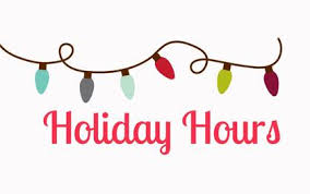 Holiday Hours Clipart