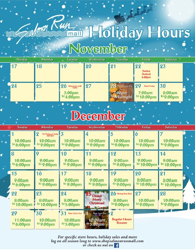Holiday Hours Official