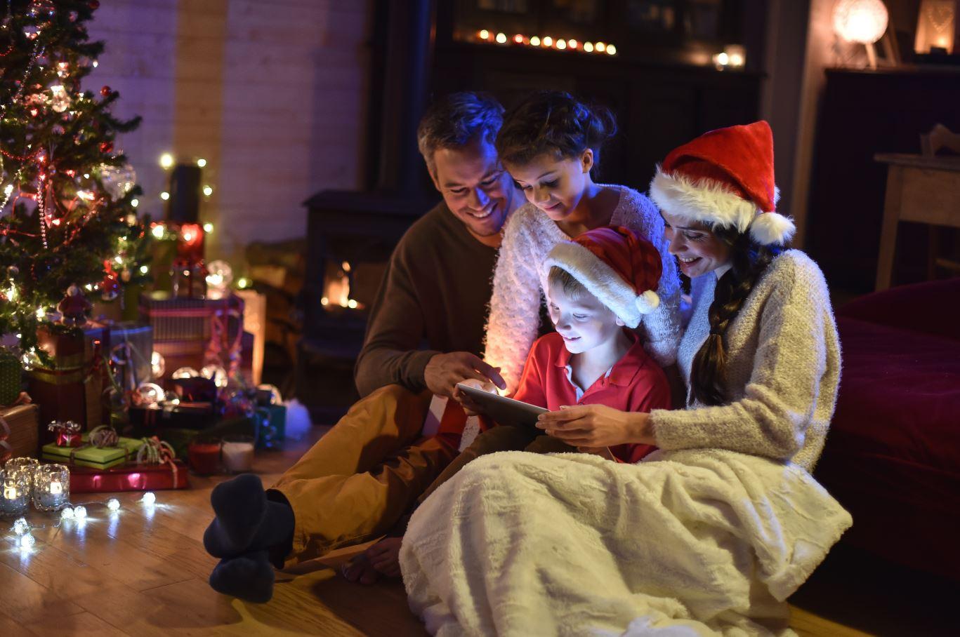 Family with Interactive Santa